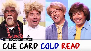 Cue Card Cold Read with Tracy Morgan and Robert Downey Jr. | The Tonight Show Starring Jimmy Fallon
