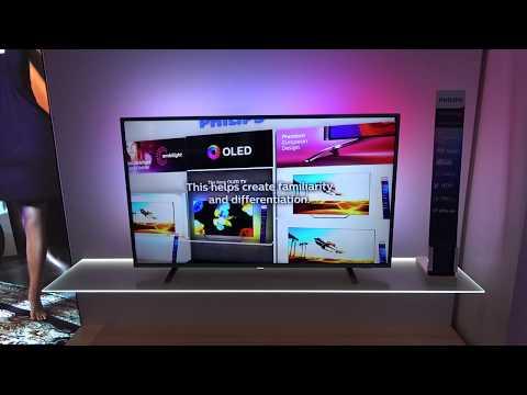PHILIPS 2018 TV LINEUP OLED und LCD TVs mit AMBILIGHT