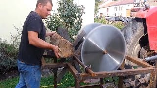 Download Video EXTREME Automatic Firewood Processing Machine, Homemade Modern Wood Cutting Chainsaw Machines MP3 3GP MP4