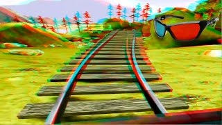 3D Roller Coaster VIDEO 3D ANAGLYPH RED/CYAN Full HD 1080p POV Ride