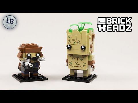 Vidéo LEGO BrickHeadz 41626 : Groot & Rocket