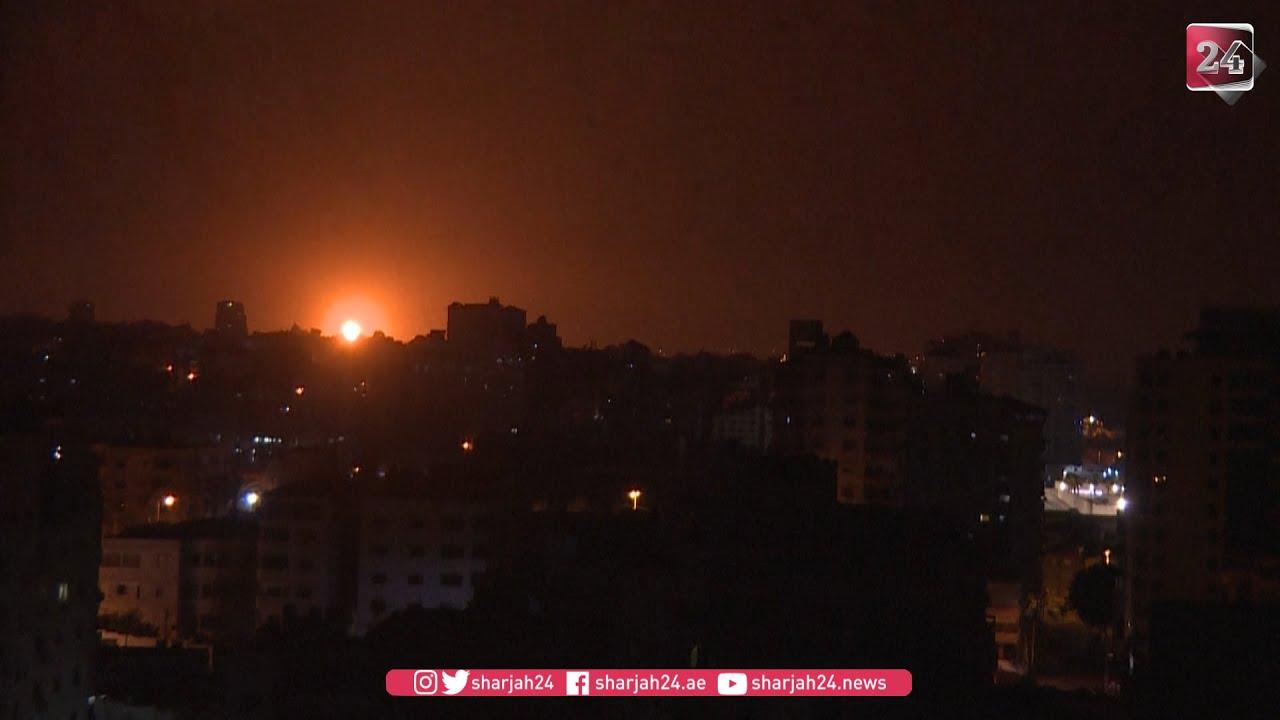 إسرائيل تشن هجمات جوية في غزة بعد إطلاق صاروخ فلسطيني
