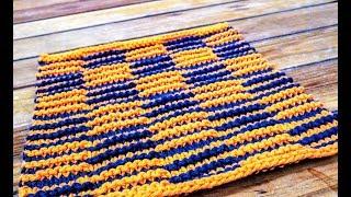 Shadow Knitting - Dishcloth: A Knittycats Knits Tutorial