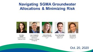Navigating SGMA Groundwater Allocations & Minimizing Legal Risk