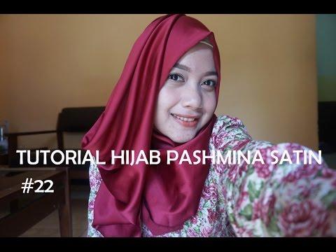 Video Tutorial Hijab Pashmina Satin #22 - indahlzami