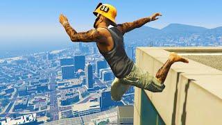 GTA 5 Funny/Crazy Jump Compilation (GTA V Fails Funny Moments)