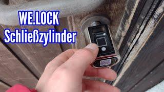 WE.LOCK Schließzylinder einbauen und anlernen Haustür mit Fingerabdruck öffnen