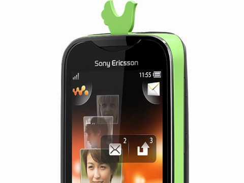 Youtube Video Sony Ericsson Mix Walkman green on black