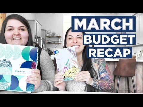 March 2021 Paycheck Budget Recap | Stimulus Check + Savings Goals