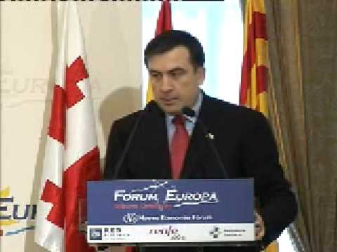 Fórum Europa Tribuna Catalunya con Mikheil Saakashvili