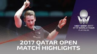 2017 Qatar Open Highlights: Ruwen Filus vs Salako Oluyomi (Qual)