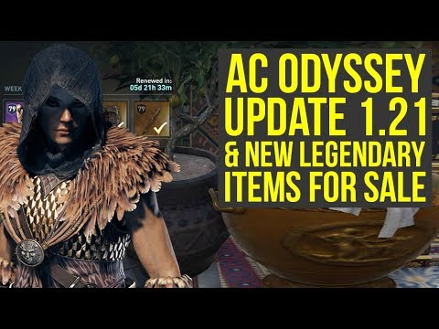 Assassin's Creed Odyssey Update 1.21 & New Legendary Items For Sale (AC Odyssey Update 1.21)