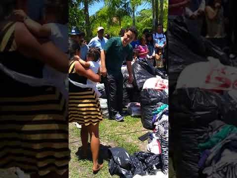 Ação social na aldeia indígena rio Silveira em Boracéia 2