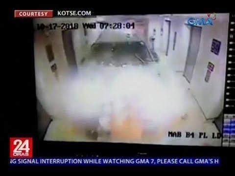 [GMA]  24 Oras: SUV, sumalpok sa elevator lobby ng ospital