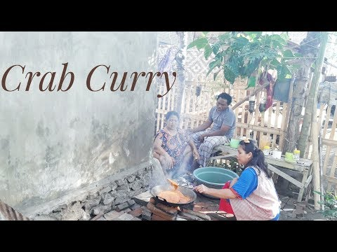 Crab curry is a very delicious dish- Indonesian Crab curry
