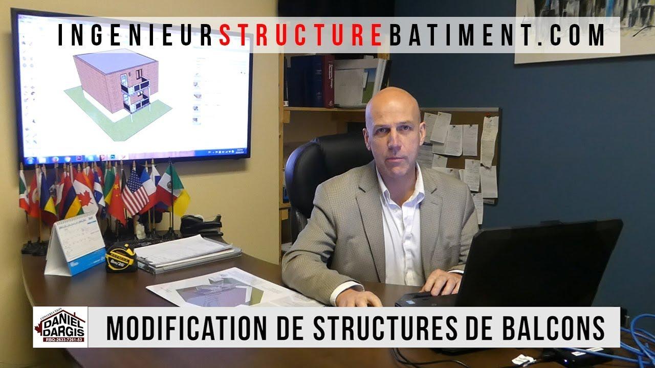 Modification de structure béton acier et bois par un ingenieur en structure bâtiment Montréal