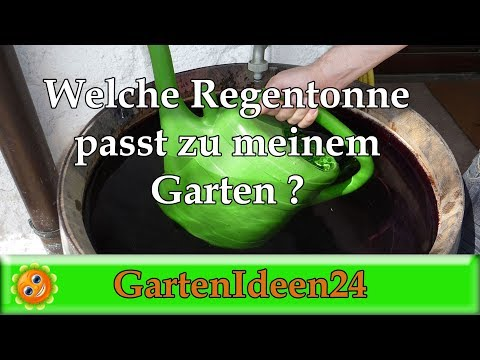 Welche Regentonne passt zu meinem Garten? Holzregenfass oder grüne Regentonne?
