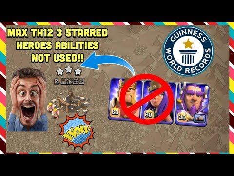 Low Heroes TH12 3 Star Attacks Clash of Clans - игровое