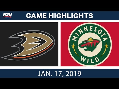 NHL Highlights | Ducks vs. Wild - Jan. 17, 2019