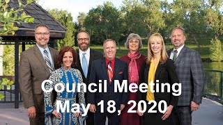 Preview image of City Council Meeting -  May 18, 2020