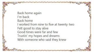 Cinderella - Back Home Again Lyrics