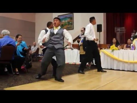 The Bride's younger brothers performing the Haka • March 12 2016 •