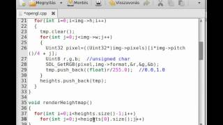 OpenGL tutorial 21 - heightmap