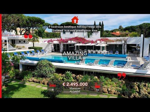 Vilamoura - Villa de charme de vacances / location de 9 chambres située dans le quartier le plus pre