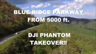Blue Ridge Parkway Aerial Views (DJI Phantom Drone Shot)