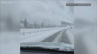 Heavy snow triggers two avalanches near I-70