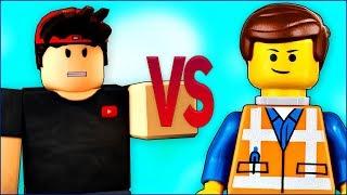 LEGO VS ROBLOX | СУПЕР РЭП БИТВА | Лего Фильм ниндзяго ПРОТИВ Роблокс игра