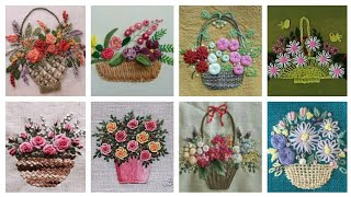 Embroidery Flower Basket / Hand Embroidery Designs / Embroidery Pattern