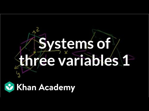 Intro to linear systems with 3 variables (video) | Khan ...