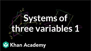 Systems of Three Variables