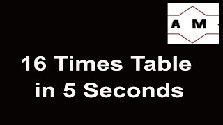 Trick to learn 16 times table