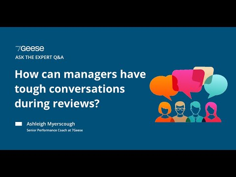 How to have those tough conversations during performance reviews