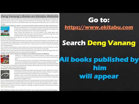 Books by Deng Vanang – 2018