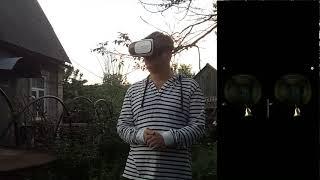 Обзор бюджетных очков виртуальной реальности. Играю в vr haunted house 3d