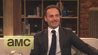 Andrew Lincoln On His Throat Stunt: Episode 416: Talking Dead