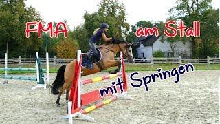 Lia & Alfi - kleines FMA am Stall mit Springen