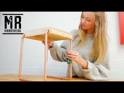 TRENDY Beistell Tisch aus Kupfer/Gerüstbohle selber bauen  DIY