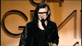 GRAMMYs Live - Skrillex accepting his FIRST GRAMMY