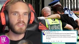 PewDiePie Reacts To Attack In Christchurch New Zealand | Hollywoodlife