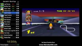 Mario Kart 64 150cc All Cups No Skips in 50:31 [N64 PAL]