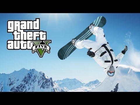GTA 5 MOD VITA REALE #20 - facciamo SNOWBOARD!