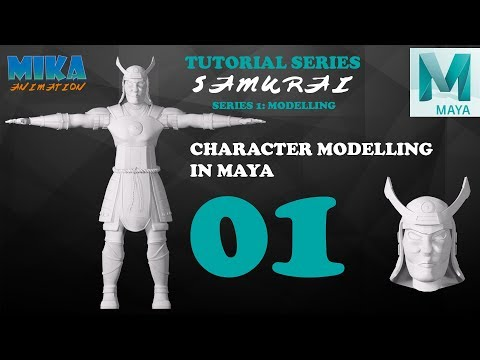 Samurai Character Modeling Tutorial in Maya 2017 Maya 2018 Part 1