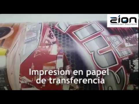 Proceso Sublimacion Maquina impresion digital+ Maquina Pneumatica de transferencia a telas