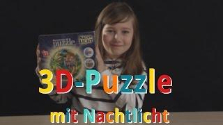 Luna testet 3D Puzzle mit Nachtlicht