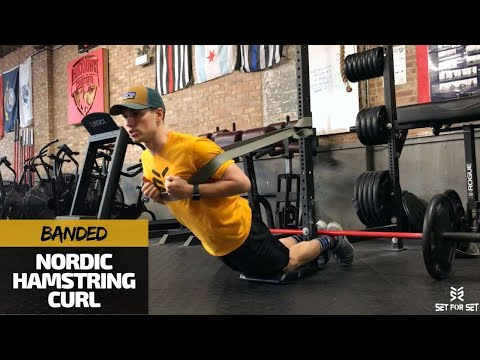 How to do Nordic Hamstring Curls Without a Partner & With Bands