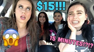 SISTER VS SISTER $15 OUTFIT CHALLENGE IN 15 MINUTES?!?!!?!